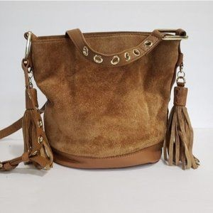 River Island Leather Suede Bucket Purse